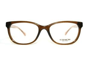 NEW COACH HC 6072 5328 BROWN CRYSTAL GLITTER AUTHENTIC EYEGLASSES RX 50-17-135