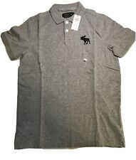 Exploded Icon Stretch Polo - Abercrombie & Fitch Size Med. NWT