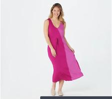 Carole Hochman Rayon Spandex Two Tone Maxi Gown-A373463