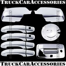 For CHEVY Silverado 2500/3500+HD 2014 Chrome Covers Mirrors+4 Doors+Gas+Tailgate