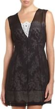 $475 DESIGNER MINI LACE DRESS ROBERT RODRIGUEZ ILLUSION BLACK WHITE SZ 8 NWT
