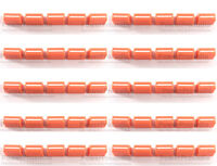 50pc Channel Crossfader Fader Cap Knob For RANE 57 TTM57 TTM57sl TTM57mk2 Orange