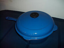 Le Creuset  Blue #27 Deep Skillet Chicken Fry Pan 3-3/4 Qt