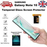 Full Glue Fingerprint Compatible Tempered Glass Protector for Samsung Note 10