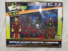 Ultimate Alien Heatblast Swampfire Ultimate Action Figure 3-Pack Ben 10 Ten NEW
