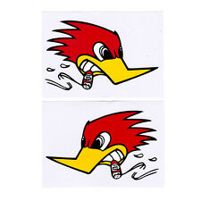 2PC BIRD RACING HONDA SBK SUPERCROSS HRC MOTOGP ADESIVI STICKER DECAL MOTORCYCLE