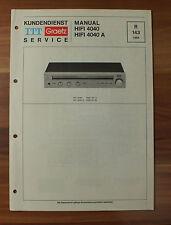 HIFI4040A HIFI 4040 A ITT Graetz Service Kundendienst Service Manual
