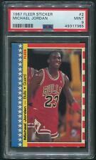 1987/88 Fleer Basketball #2 Michael Jordan Sticker PSA 9 (MINT)