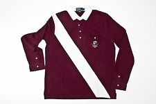 Polo Ralph Lauren Cotton Long Sleeve Crest Pocket Polo in Size Large in Purple