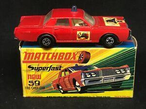 MIMB Matchbox Superfast MB59B Mercury Fire Chief with Type H Box