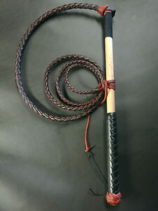6ft RedHide Stock Whip leather Stockwhip, conditioner fall 6 crackers, free post