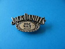 Jack Daniels Whiskey Oval metal pin badge. VGC. Unused. Whisky.