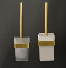 Brushed gold Zinc Alloy Toilet Brush&Holder Bathroom Toilet Cleaner Brush Set