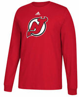 a32ac2e891 New Jersey Devils Mens Adidas Red Primary Logo Long Sleeve T Shirt
