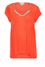 Boat Neck Polyester Hip Length Tops & Shirts for Women