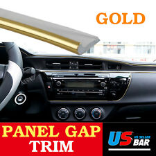 240inch For Car Accessory Door Panel Decorate Gap Molding Edge Trim Strip Gold