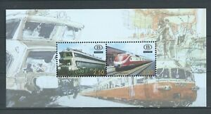BELGIUM 2007 trans europe express train M/S mnh** TRVBL 13