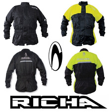 Richa Rain Warrior Motorcycle 100% Waterproof Over Jacket Black- Fluo/Black