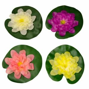 BERMUDA LARGE FLOATING POND LILLIES DECORATION ARTIFICAL PLASTIC LILY FLOWER