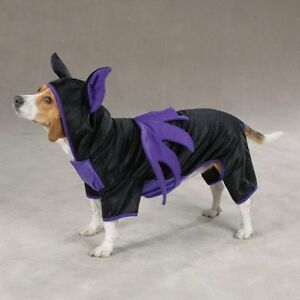Casual Canine BAT DOG  Pet Costume - Black/Violet- Choose Small or XSmall