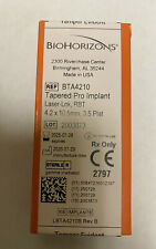 New Biohorizons Dental Implant Tapered Pro 4.2mm X 10.5. Expiration 2025