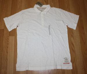 NWT Mens MARGARITAVILLE Cream Polo Shirt M Medium