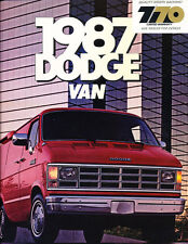 1987 Dodge Ram Van Cargo 7-70 Original Sales Brochure Catalog