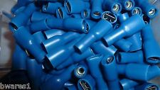 100 x NARVA 56144 FEMALE BLADE BLUE SPADE CRIMP TERMINAL 4mm FULLY INSULATED