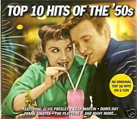 TOP 10 HITS OF THE '50s - 50 ORIGINAL HITS 2 CD BOX SET
