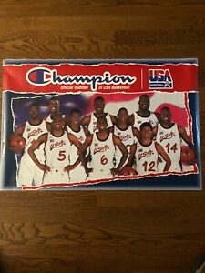 1996 Olympic Dream Team Poster - Champion Official Outfitter of USA Basketball