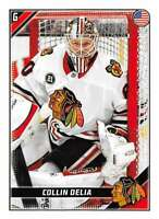 2019-20 Topps NHL Stickers Hockey #115 Collin Delia Chicago Blackhawks  Official