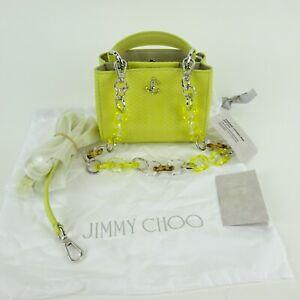 Jimmy Choo Varenne Top Handle Mini Sunbleached Plexi Small Handbag NEW NWT