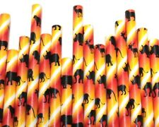 Safari Paper Straws (Ø 6mm, 200mm) - Pack Qty 1-500 - UK MADE