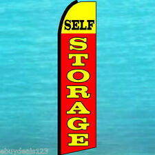 SELF STORAGE FLUTTER FEATHER FLAG Advertising Sign Bow Banner Swooper