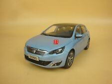 1:18 2015 PEUGEOT 308s blue color hatchback 5 doors model car + gift