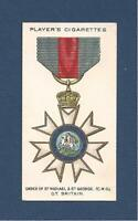 Most DISTINGUISHED ORDER of St MICHAEL & St GEORGE CMG 1927 original card