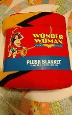 "Dc Comics Wonder Woman Soft Plush Throw Blanket 62"" x 90"" Inch New Free shipping"