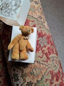 Vintage HERMANN MINIATURE TEDDY BOXED Excellent condition