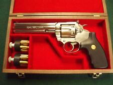 PISTOL GUN PRESENTATION CASE WOOD BOX FOR COLT  KING COBRA REVOLVER  SNAKE .357
