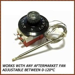 UK 0-120℃ Car Capillary Thermostat Cooling Radiator Fan Control Switch