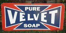 VELVET SOAP ENAMEL SIGN (MADE TO ORDER) #24