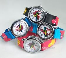 Kids Novelty Super Hero Spiderman Analog Rubber Strap Wrist Watch School Gift UK