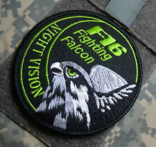 F-16 FIGHTING FALCON SWIRL INSIGNIA PATCH: F-16 Night Vision Swirl vêlkrö Patch