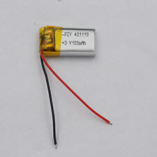 3.7V 100 401119 mah Polymer Li battery pack for bluetooth headset record pen Mp3