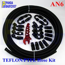 BRAIDED TEFLON PTFE E85 OIL HOSE END 6AN -6 AN6 LINE FUEL FITTING 10M SPANNER RD