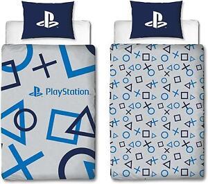 Sony Playstation Blue Single Duvet Cover Reversible Bedding Set PS5