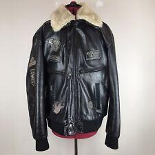 Aviatrix Designer Black Genuine Leather Aviator Style Jacket UK Size XXL 2XL