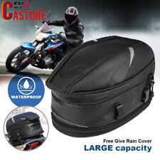 Waterproof Motorcycle Rear Tail Bags Sport Back Seat Bag Scooter Helmet Pack