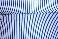 """New Narrow Blue Stripe on white, cloth fabric material by the yard is 56"""" wide"""