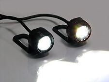 Universal Projector 1 Watt LED Daytime Running Lights DRL For Motorcycles Mot...